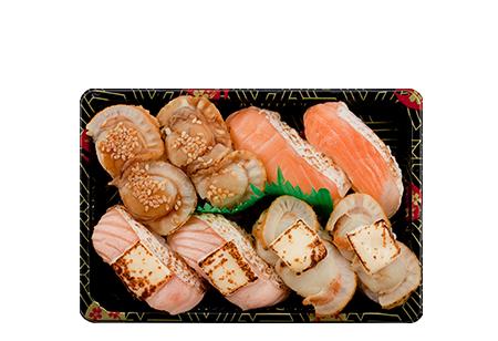 Salmon Scallop Bento